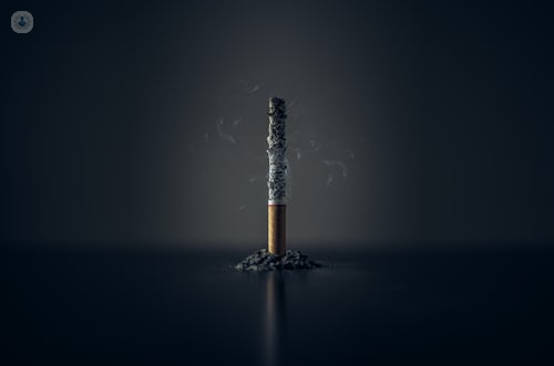 Cigarette burning down